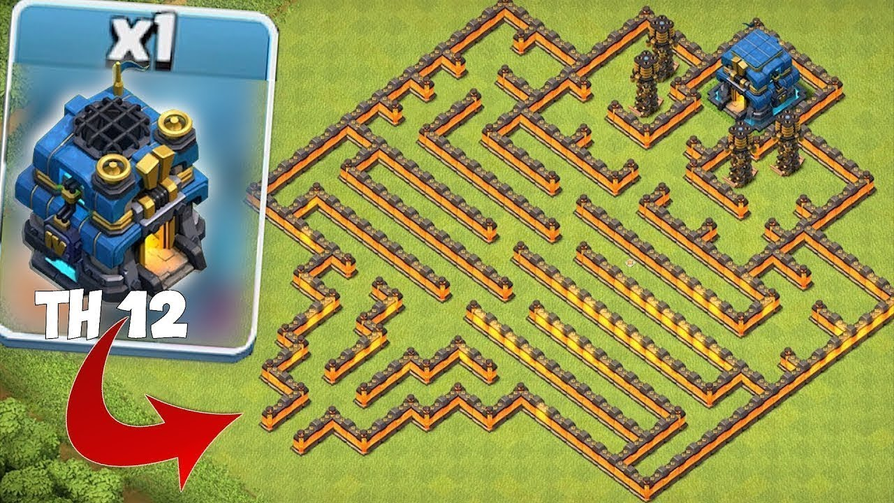 "TOWN HALL 12 MAZE BASE!! ""Clash Of Clans"" NEW UPDATE!!"
