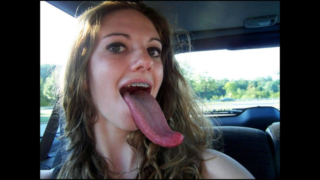 Girl With The World'S Longest Tongue