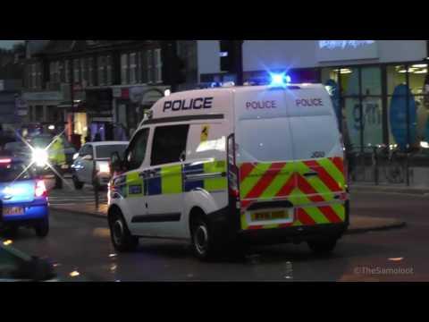 Car Chase Aftermath in London + Metropolitan Police Ford Transit Responding