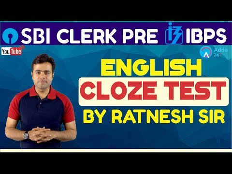 SBI Clerk Pre, IBPS 2018 | Cloze Test By Ratnesh Sir | English | Online Coaching For SBI