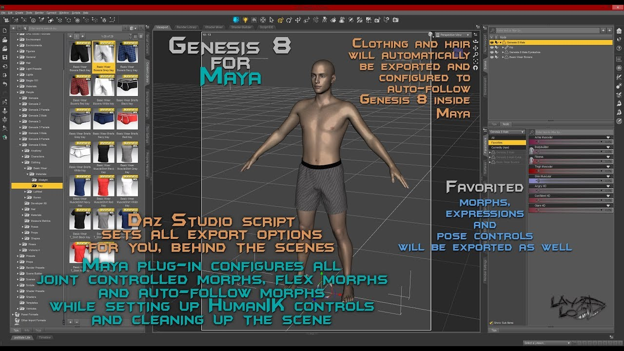 Genesis 8 for Maya | 3D Models and 3D Software by Daz 3D