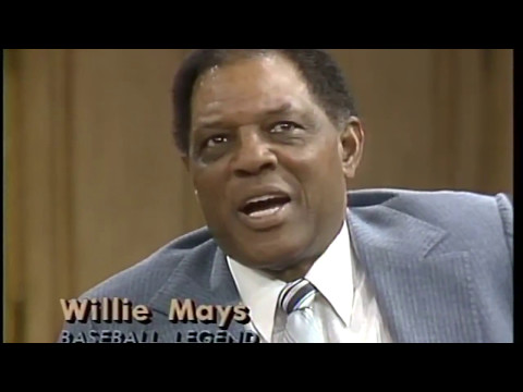 """Willie Mays """"The Say Hey Kid"""". A true baseball legend! Fun interview."""