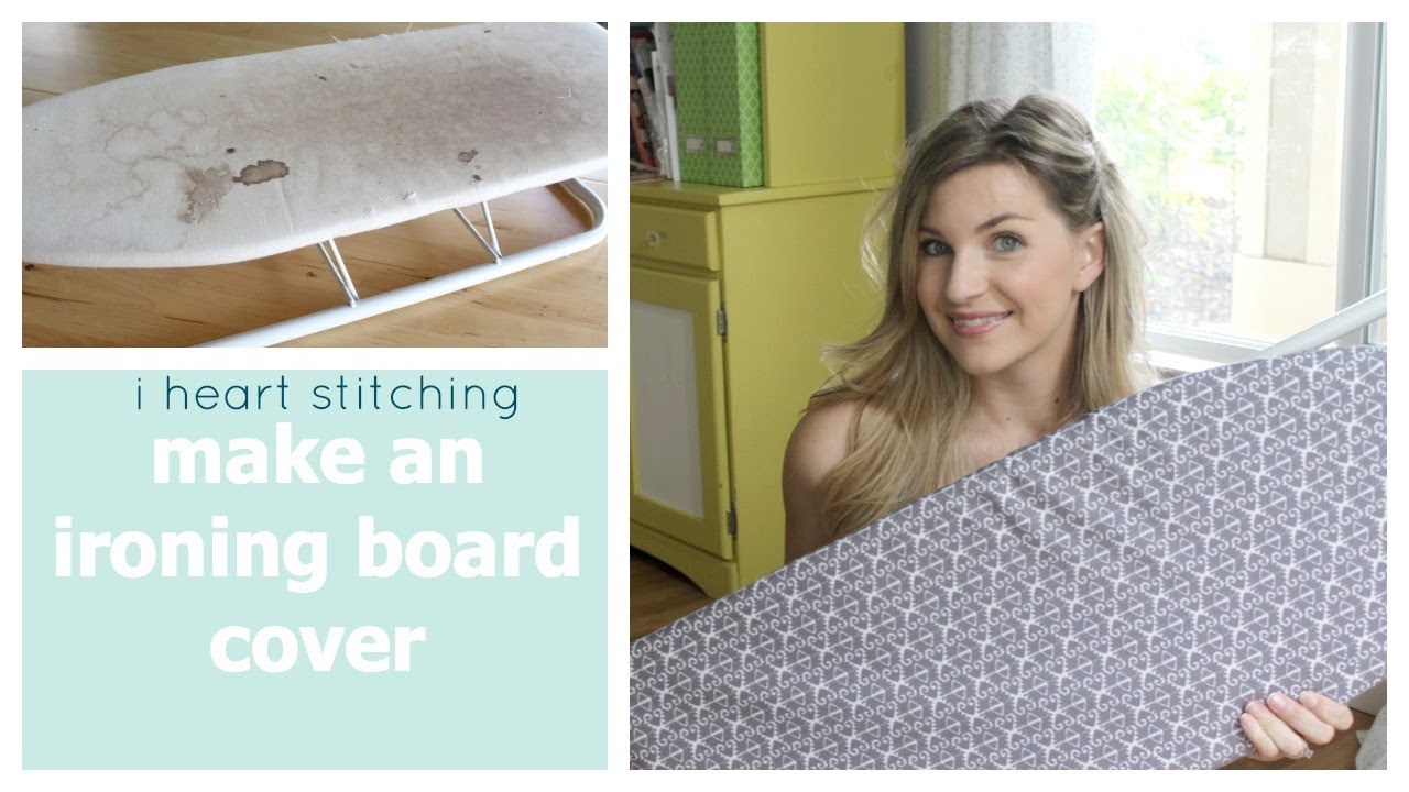 How To Make An Ironing Board Cover Youtube