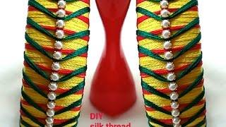 DIY IDEAS|How to make SILK THREAD bangles..!!