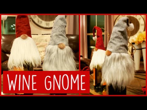 Holiday Gift Idea - How To Make a Gnome Wine Bottle Topper