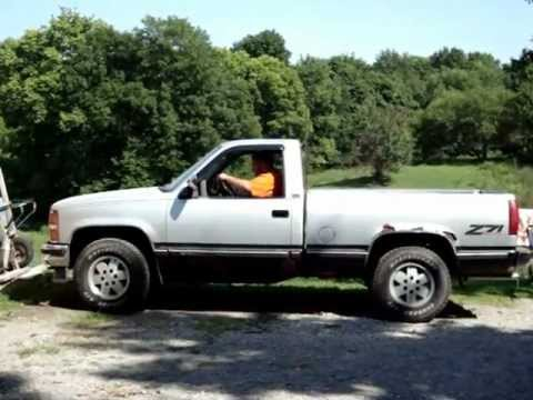91 chevy 1500 dual straight pipe exhaust - YouTube