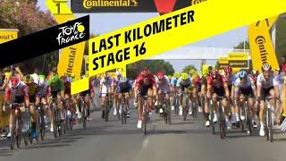Bekijk de spannende laatste sprintkilometer van etappe 16