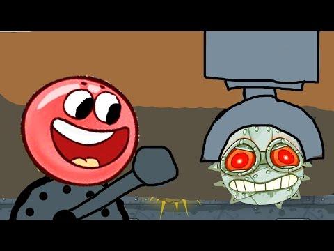 Приключения красного шарика на фабрике, Сражение с босом в игре RED BALL 4.