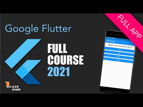 Flutter Crash Course For Beginners 2019 - Build A Flutter App With Google's Flutter & Dart