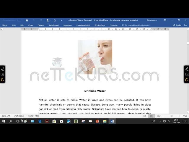 YÖKDİL, TIPDİL, YDS, YKS İngilizce - Reading (Okuma) / nettekurs.com Online Genel İngilizce Kursu