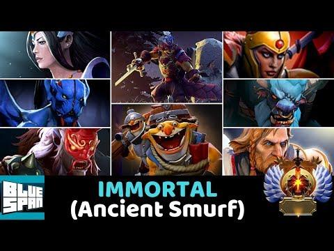 IMMORTAL (Ancient Smurf) DOTA 2 MIRA PANG PANG NS GRIM PANG LC SB TECH OMNI