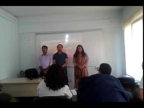 Bangladeshi National Anthem at Ankara Yildirim Beyazit  University (AYBU), Ankara, Turkey