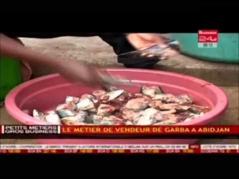 Petits métiers, gros business : le métier de vendeur de garba à Abidjan