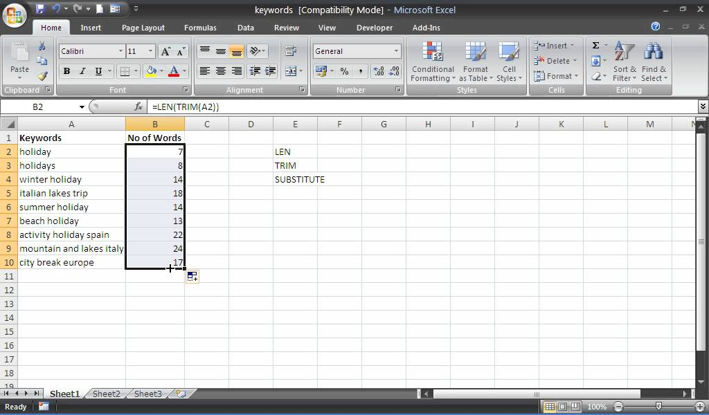 how do i count words in an excel spreadsheet excel count same words in a cell formula contains. Black Bedroom Furniture Sets. Home Design Ideas