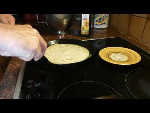 Vegan Crepes using flour, oat milk, powder sugar, cornstarch and salt