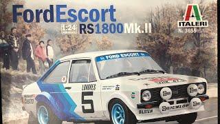 1:24 Italeri escort Mk2 RS1800 part one
