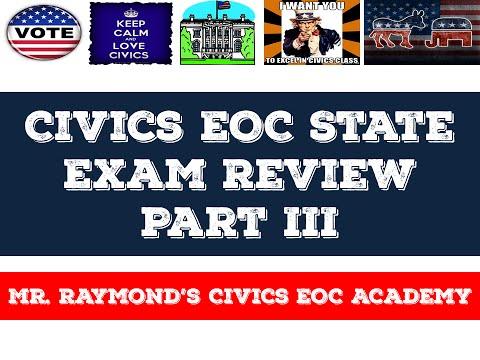 Civics EOC State Exam Review Part III