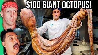$2 Octopus VS $100 Octopus!! Huge Ocean Monster Served Five Ways!!!