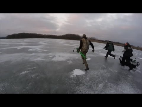 RUNNING FOR OUR LIVES! Ice Fishing Tourney! 1st Of The Year!
