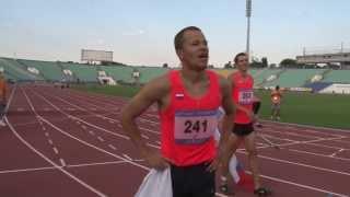 Победитель забега с препятствиями на 400 м - Sofia Deaflympics 2013