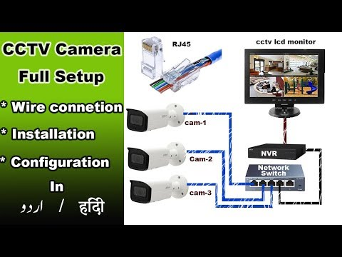 cctv camera full setup 1st time  | wire connection | configuration and installation