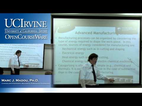 Engineering 165/265: Advanced Manufacturing Choices. Lecture