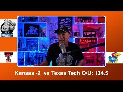 Kansas vs Texas Tech 2/20/21 Free College Basketball Pick and Prediction CBB Betting Tips
