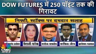Dow Futures में 250 पॉइंट तक की गिरावट   Futures Express   7th Feb   CNBC Awaaz