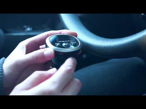 auvisio MP3-FM-Transmitter mit Bluetooth, Freisprecher, USB-Port, für 12/24 V