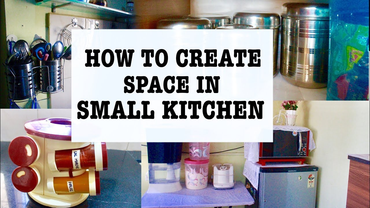 How to create space in Small Kitchen | Kitchen storage ideas | For Rented  Apartment