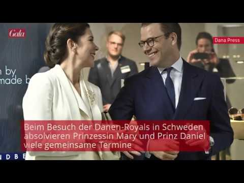 Prince Daniel and Crown Princess Mary cute moments.