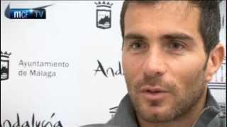 Málaga club de fútbol televisión. 04/08/2012. mcf-tv interview with enzo maresca