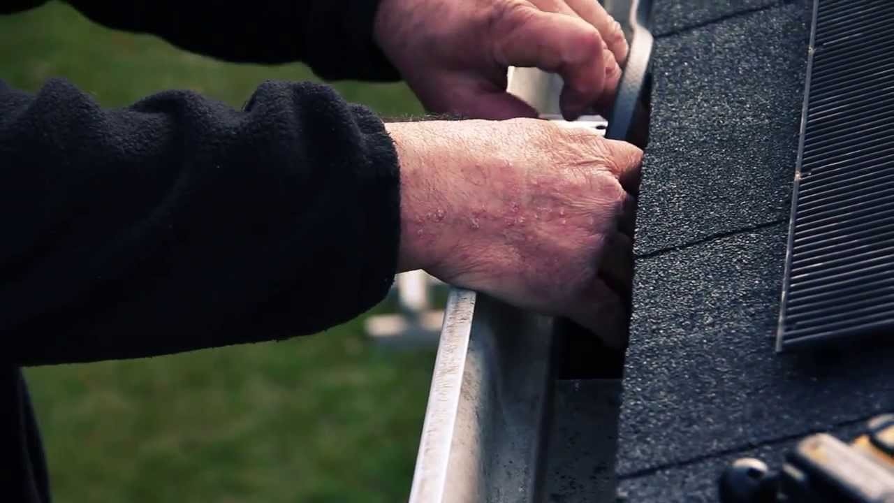 Nuheat Cable Gutter : Heat cable installed with raindrop gutter guards youtube