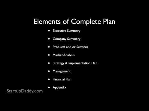 How to write a simple business plan template pdf