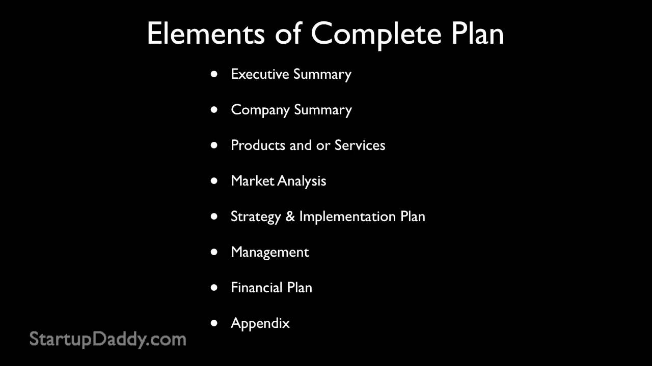 How To Write A Business Plan How To Start A Business