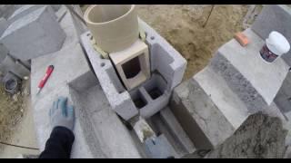 Buduję dom. murowanie komina 4