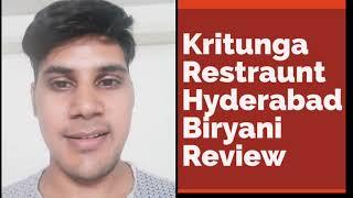 Kritunga Restaurant Hyderabad Review/kritunga Biryani recipe/kritunga Natukodi chicken/How to order