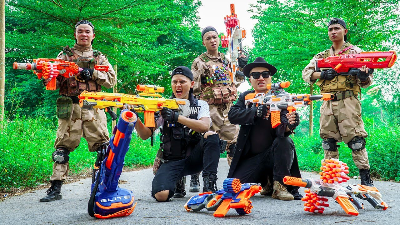 LTT Nerf War : Special Police SEAL X Warriors Nerf Guns Fight Dr.Lee Crazy Scam Lurking
