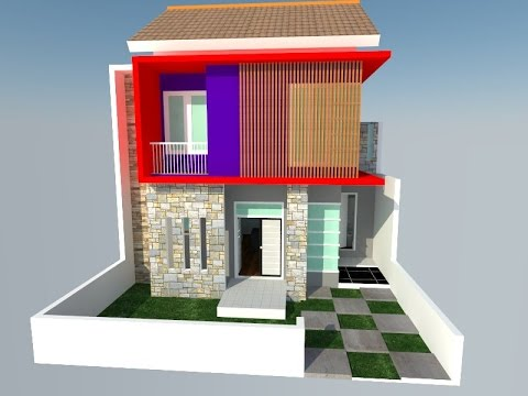 sketchup modelling tutorial rumah 2 lantai part 1 youtube