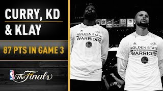 Top Performers: Durant, Curry, Thompson Combine For 87 In Game 3