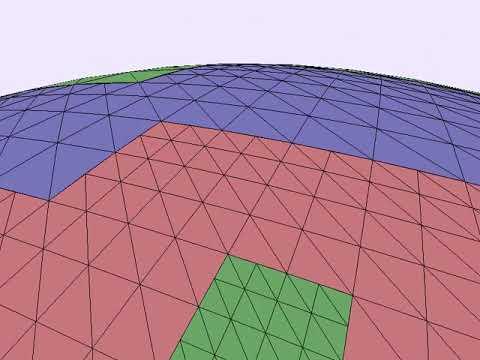 Procedural planet OpenGL, frustum culled, quad tree, spherical, GPU