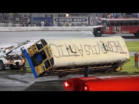 School Bus Figure 8 race 5/26/18 Sportsdrome Speedway, Clarksville, IN