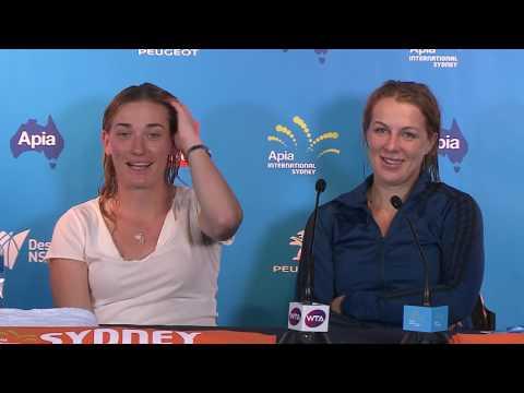 Pavlyuchenkova/Babos Press Conference (Final) | Apia International Sydney 2017