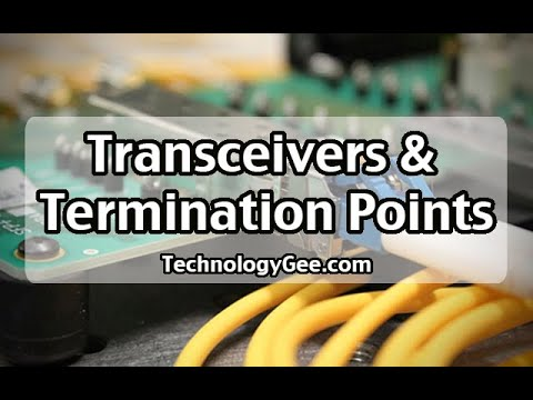Transceivers & Termination Points | CompTIA Network+ N10-007 | 2.1b