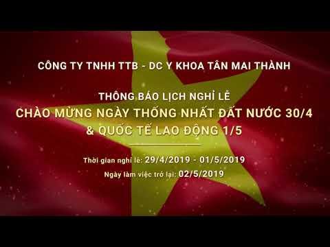 Công ty Tân Mai Thành Thông báo nghỉ Lễ 30/4 và 1/5