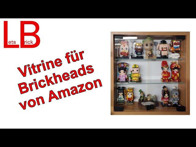 Special: Vitrine in 40x40x10 cm von Amazon für Figuren und Brickheads - Schrottteil