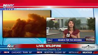 FNN 10/10/17: California Wildfire Coverage - MASSIVE Fire/Smoke, State Dept. Briefing