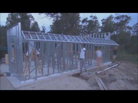 Uma casa em 30 dias.  Steel Frame.