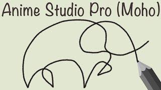 Аnime Studio Pro 11 (Moho Pro) - Как сделать эффект появления надписи (рисунка) / Эффект рисования