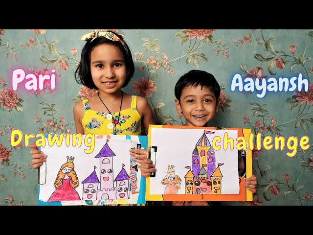 Drawing Challenge with Aaynash/ Masti Vlog with Brother | #LearnWithPari